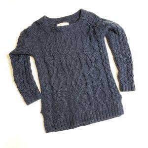 Zara knit wool sweater blue